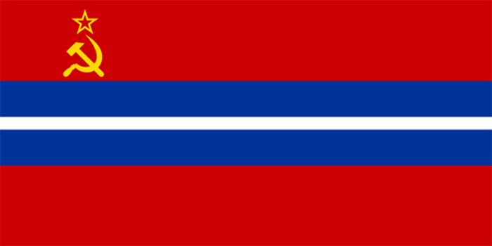 flaga Kirgiskiej SRR 1952-81